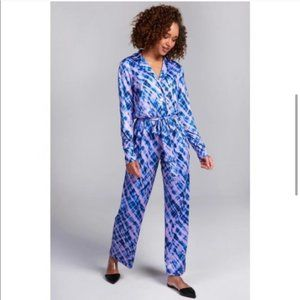 Terez Tie-Dye Pajama Jumpsuit S